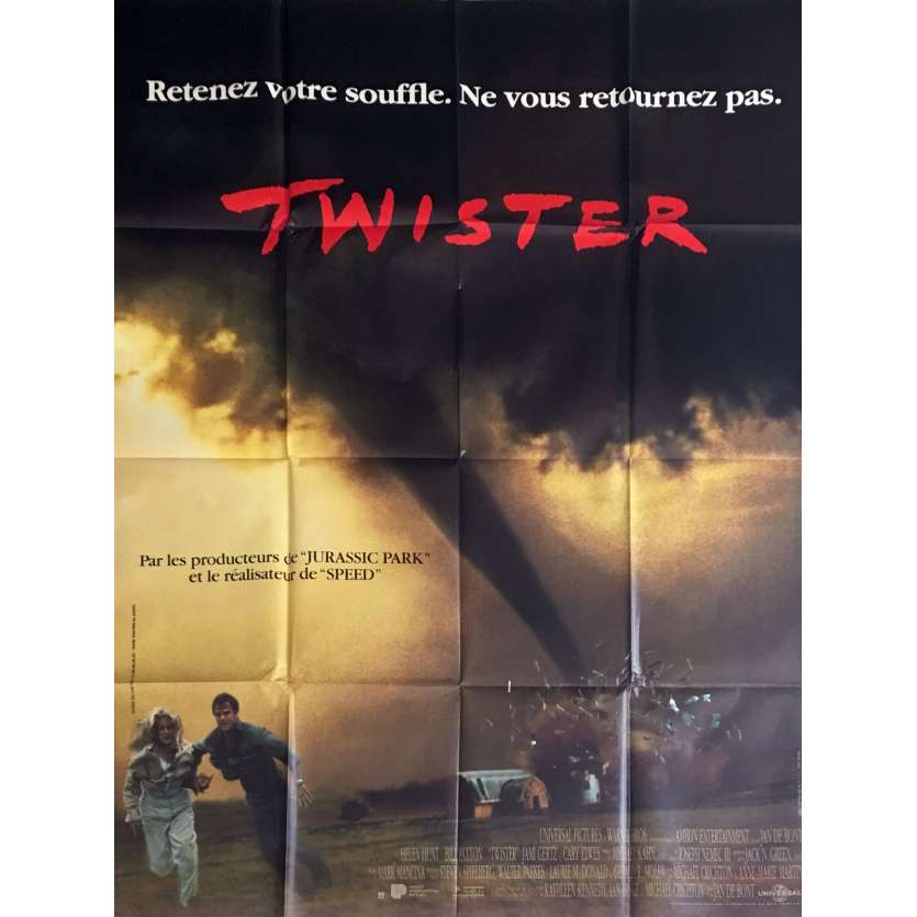 TWISTER Movie Poster 47x63 in. - 1996 - Jan de Bont, Helen Hunt