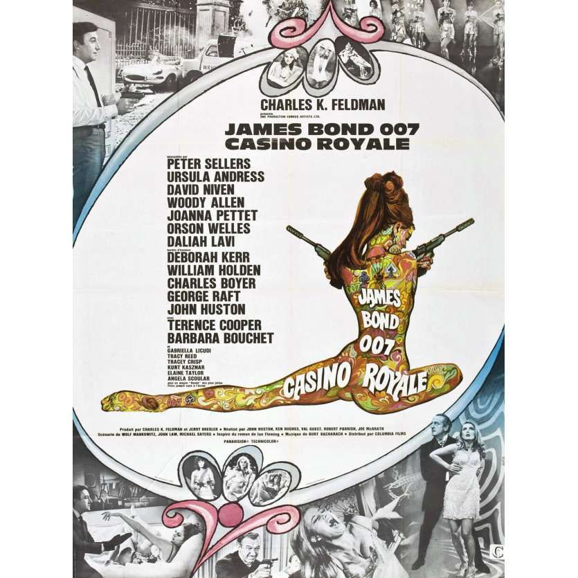 CASINO ROYALE Affiche 120x160 FR '67 Peter Sellers, David Niven 007 James Bond Movie Poster