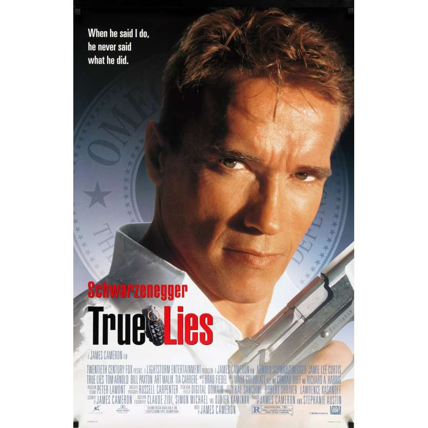 TRUE LIES style B US Movie Poster 29x41 - 1994 - James Cameron, Arnold Schwarzenegger