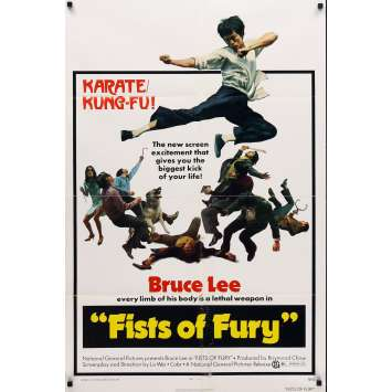 FISTS OF FURY 1sh Original Movie Poster '73 Bruce Lee