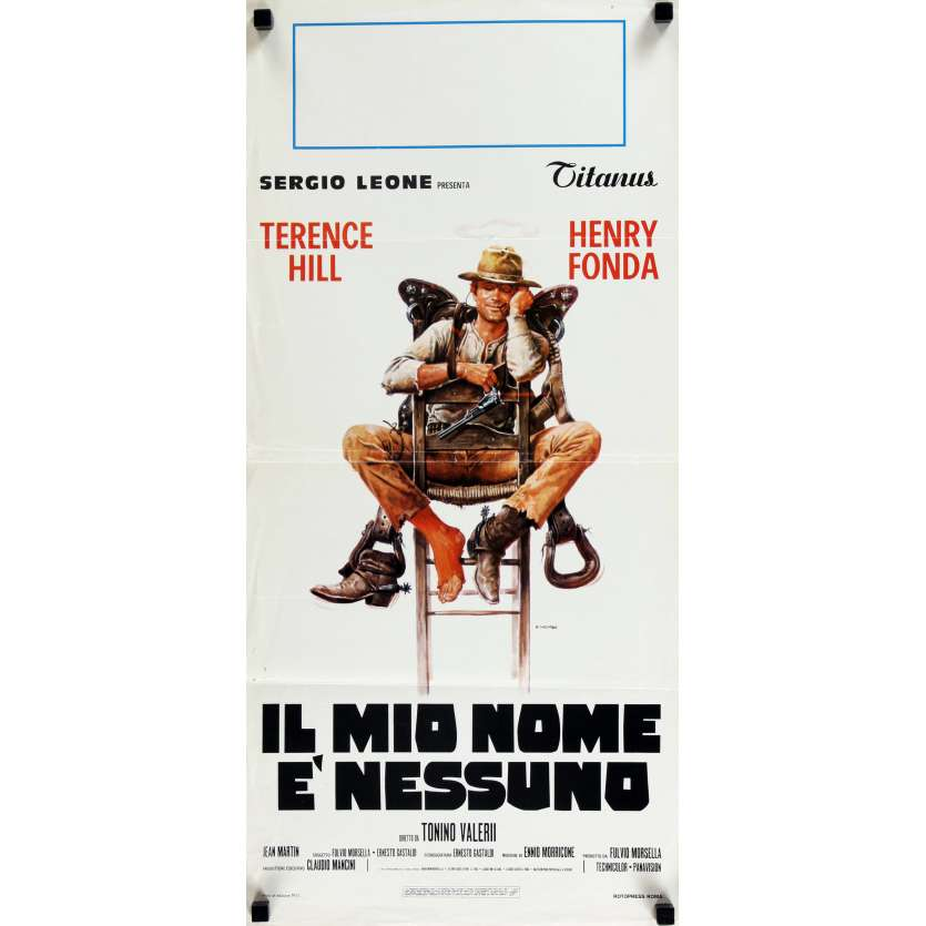 MY NAME IS NOBODY Movie Poster 13x30 in. - 1973 - Tonino Valerii, Henry Fonda, Terence Hill