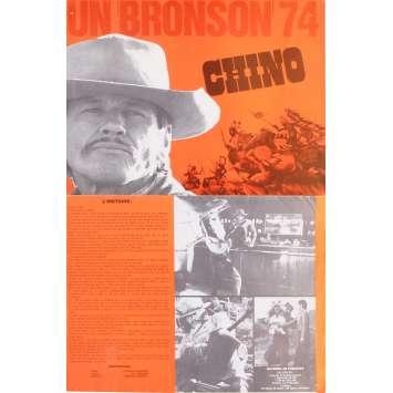 CHINO Synopsis 21x30 cm - 1973 - Charles Bronson, John Sturges