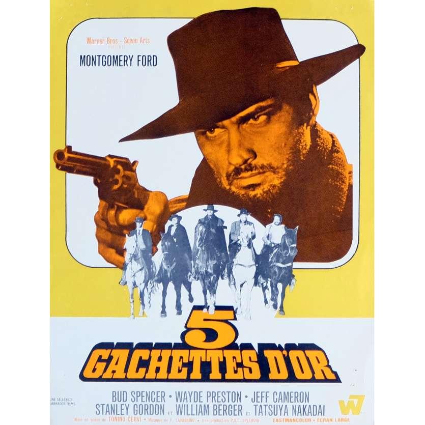 5 GACHETTES D'OR Synopsis 21x30 cm - 1968 - Bud Spencer, Tonino Cervi