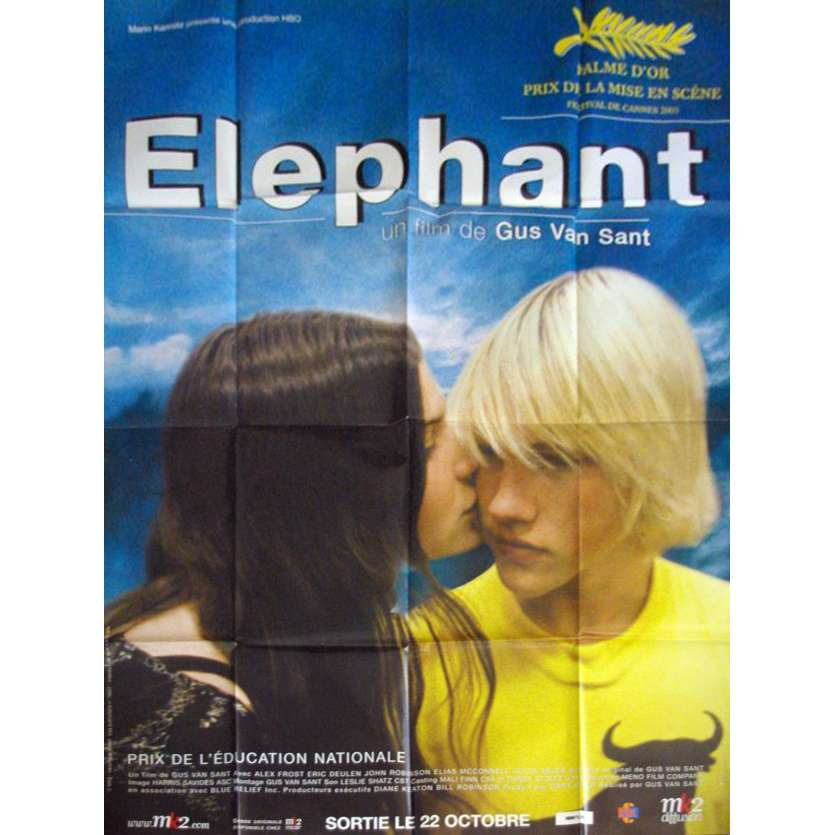 ELEPHANT French Movie Poster Huge 47x63 '03 Gus Van Sant, Colombine