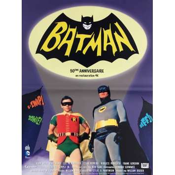 BATMAN THE MOVIE Movie Poster 15x21 in. - R2016 - Bob Kane, Adam West