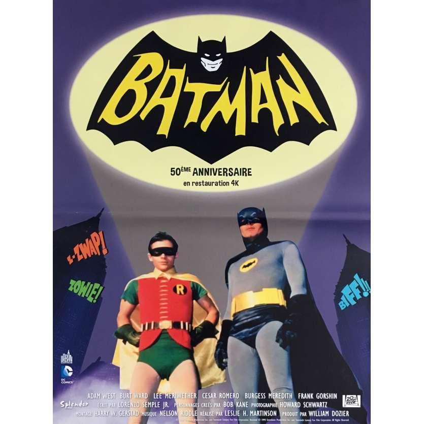 BATMAN THE MOVIE Movie Poster 15x21 in. - R2016 - Bob Kane, Adam West