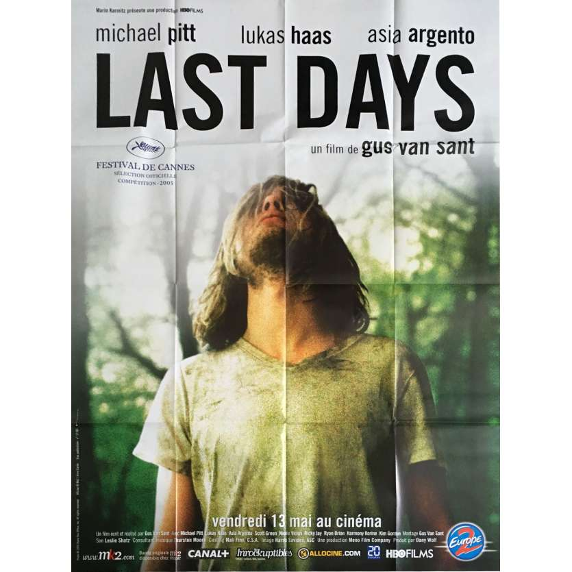LAST DAYS Movie Poster 47x63 in. - 2005 - Gus Van Sant, Michael Pitt