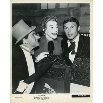 BATMAN 1966 Photo de presse N30 20x25 cm - 1965 - Cesar Romero, Adam West, Bob Kane