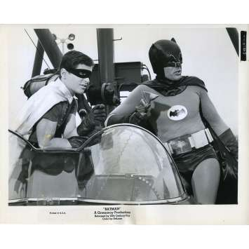 BATMAN 1966 Photo de presse N84 20x25 cm - 1965 - Adam West, Burt Ward, Bob Kane