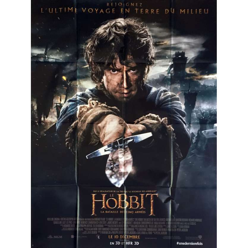 THE HOBBIT 3 Mod. B French Movie Poster 47x63 - 2014 - Peter Jackson, Ian McKellen