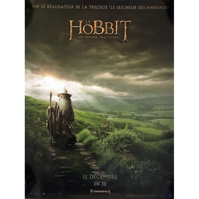 THE HOBBIT Style B French Movie Poster 15x21 - 2012 - Peter Jackson, Martin Freeman