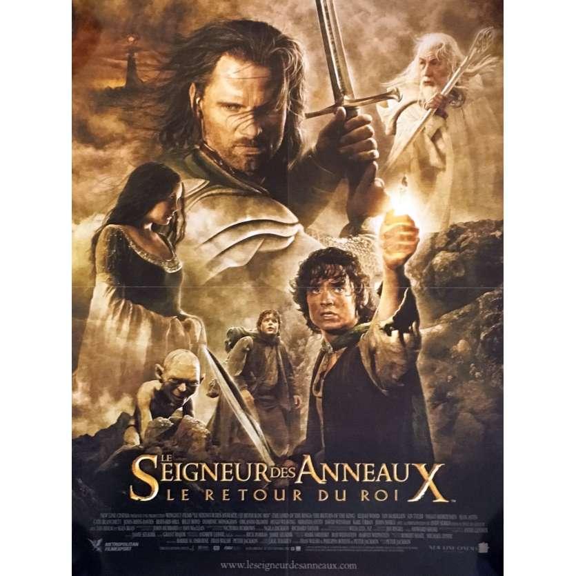 LE SEIGNEUR DES ANNEAUX - LE RETOUR DU ROI Affiche de film 40x60 - 2003 - Elijah Wood, Peter Jackson