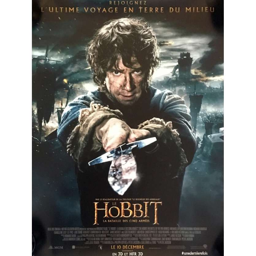 THE HOBBIT 3 Mod. B French Movie Poster 15x21 - 2014 - Peter Jackson, Ian McKellen