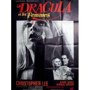 DRACULA ET LES FEMMES Affiche de film 120x160 cm - 1968 - Christopher Lee, Freddie Francis