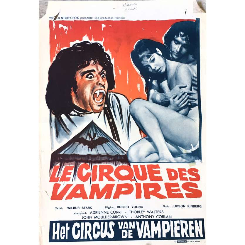 VAMPIRE CIRCUS / COUNTESS DRACULA Movie Poster 14x21 in. - 1972 - Robert Young, Adrienne Cori