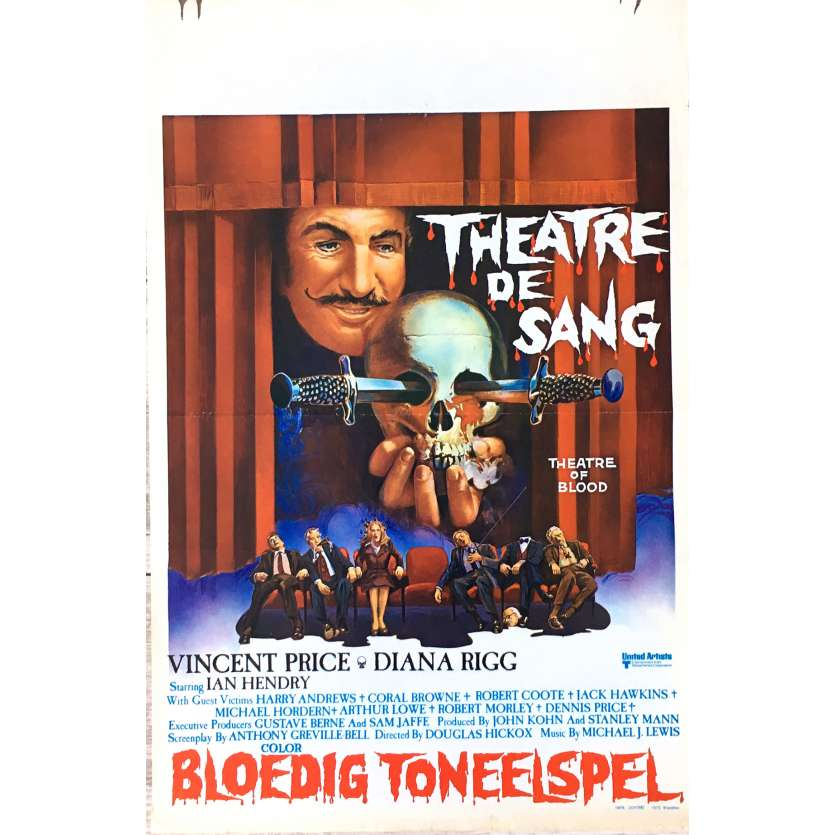 THEATER OF BLOOD Movie Poster 14x21 in. - 1973 - Douglas Hickox, Vincent Price