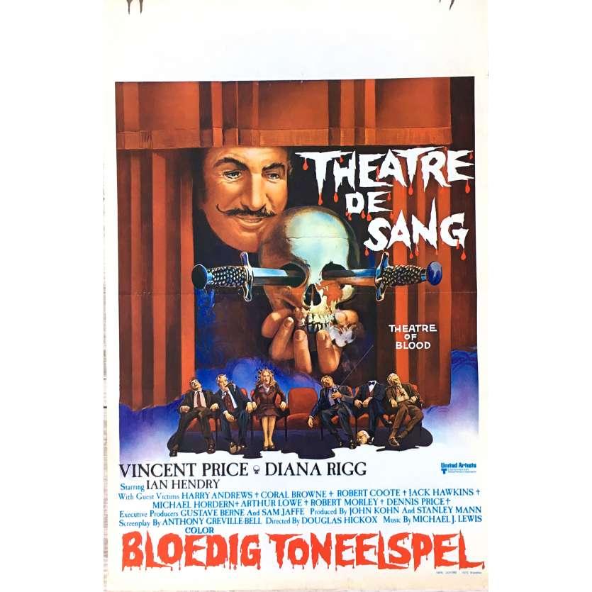 THEATRE DE SANG Affiche de film 35x55 cm - 1973 - Vincent Price, Douglas Hickox