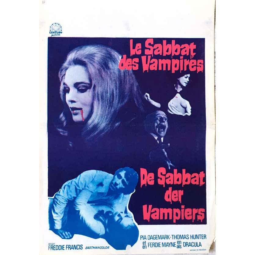 THE VAMPIRE HAPPENING Movie Poster 14x21 in. - 1971 - Freddie Francis, Thomas Hunter