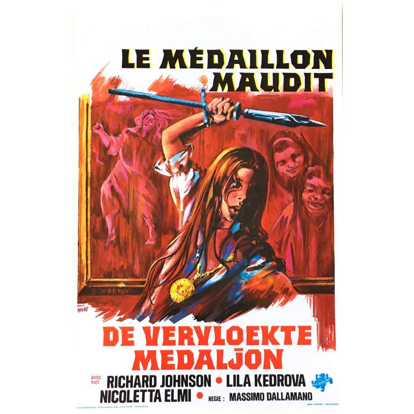 EMILIE L'ENFANT DES TENEBRES Affiche de film 35x55 cm - 1975 - Richard Johnson, Massimo Dallamano