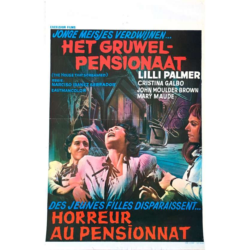 THE HOUSE THAT SCREAMED Movie Poster 14x21 in. - 1970 - Narciso Ibáñez Serrador , Lilli Palmer