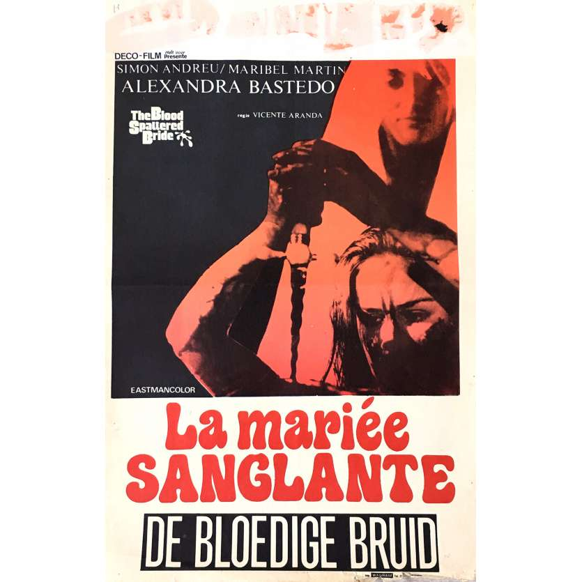 THE BLOOD SPATTERED BRIDE Movie Poster 14x21 in. - 1972 - Vicente Aranda, Simon Andreu