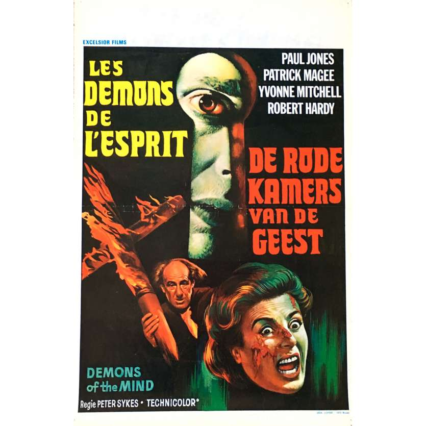 DEMONS OF THE MIND Movie Poster 14x21 in. - 1972 - Peter Sykes, Robert Hardy