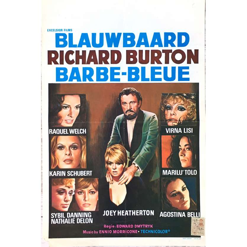 BLUE BEARD Movie Poster 14x21 in. - 1972 - Edward Dmytryk, Richard Burton
