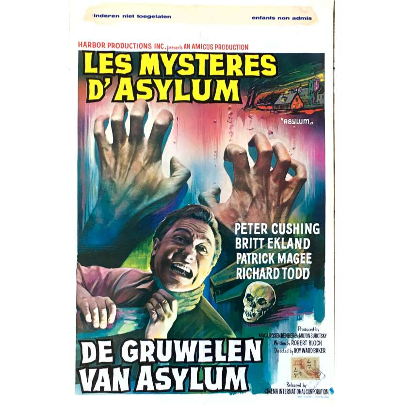 ASYLUM Movie Poster 14x21 in. - 1972 - Roy Ward Baker, Peter Cushing