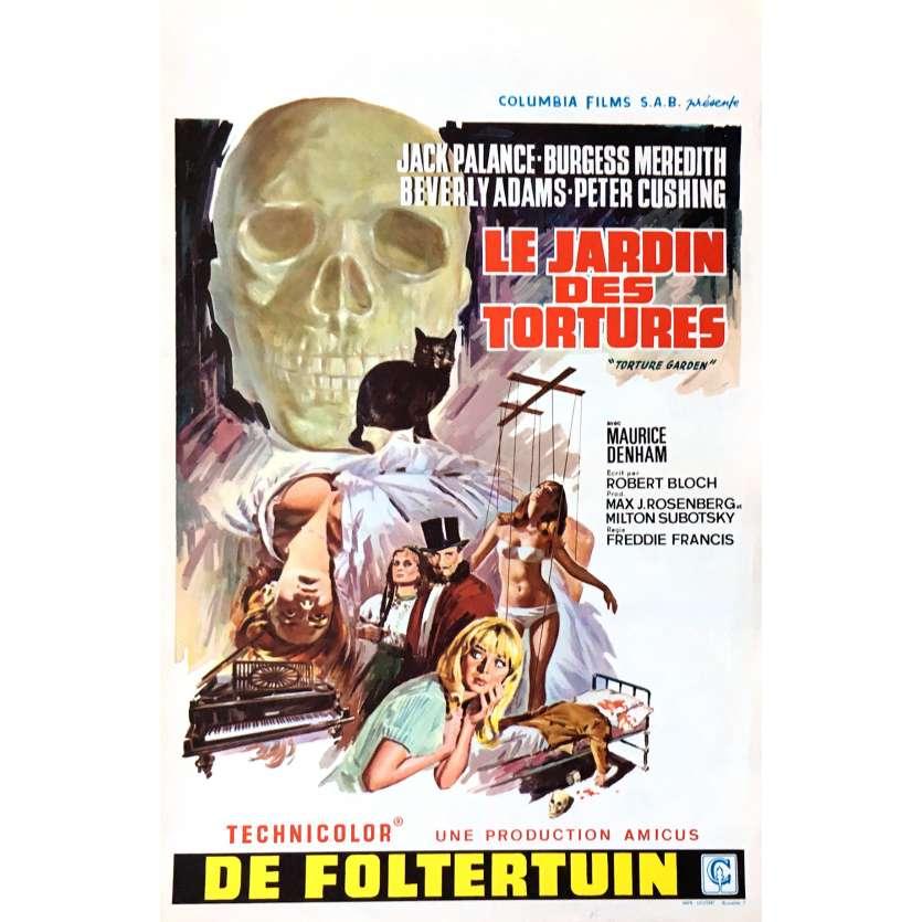 LE JARDIN DES TORTURES Affiche de film 35x55 cm - 1967 - Jack Palance, Freddie Francis