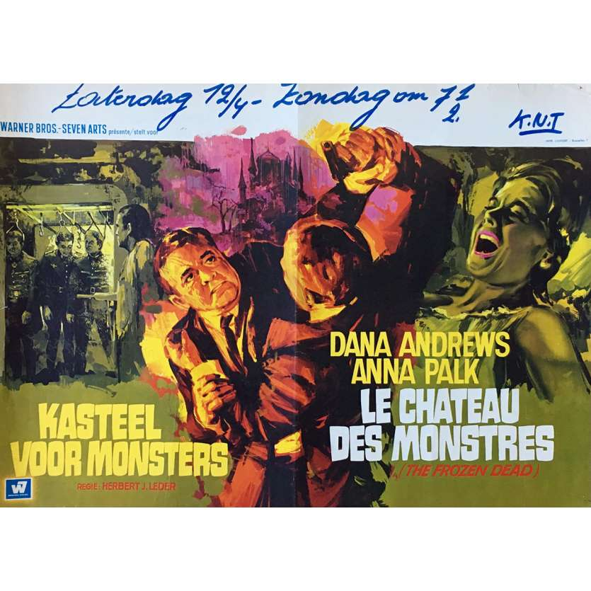 THE FROZEN DEAD Movie Poster 14x21 in. - 1966 - Herbert Leder, Dana Andrews