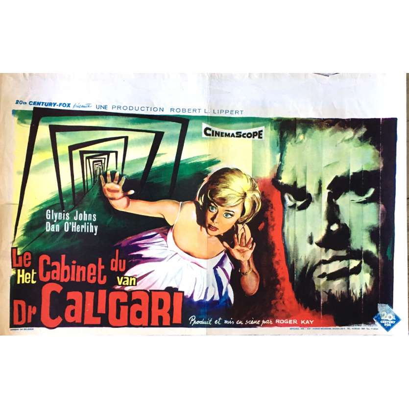 THE CABINET OF CALIGARI Movie Poster 14x21 in. - 1962 - Roger Kay, Dan O'Herlihy