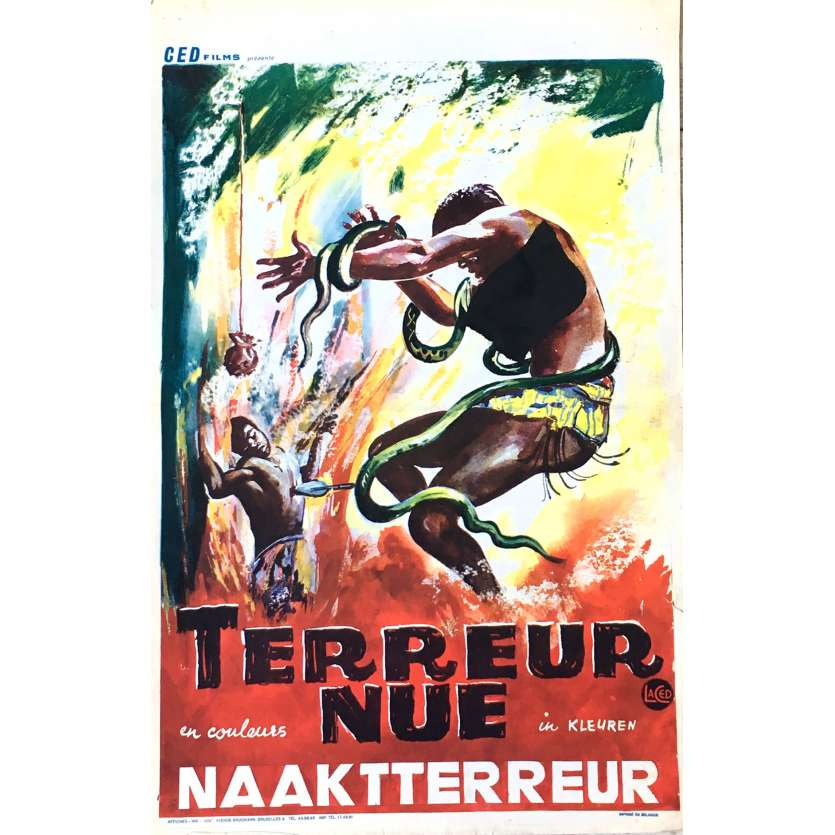 NAKED TERROR Movie Poster 14x21 in. - 1961 - Joseph Brenner, Vincent Price