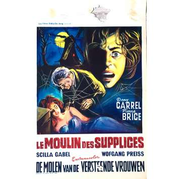 LE MOULIN DES SUPPLICES Affiche de film 35x55 cm - 1960 - Pierre Brice, Giorgio Ferroni