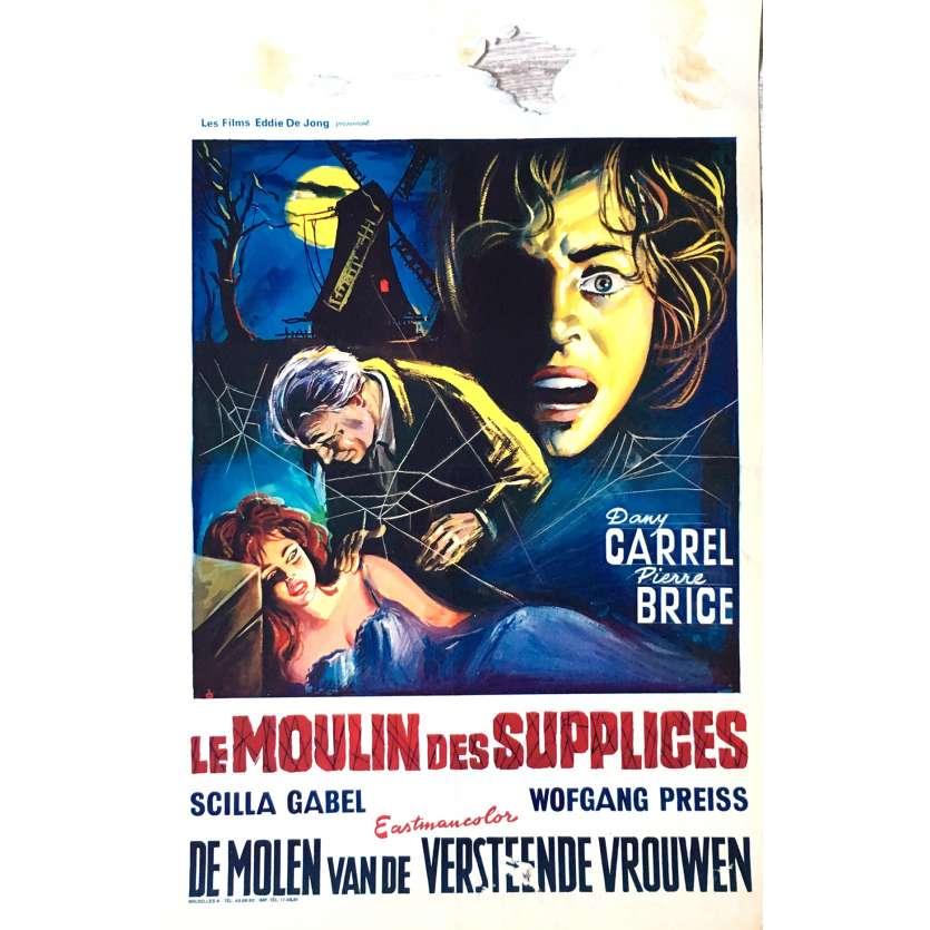 LE MOULIN DES SUPPLICES Affiche de film 35x55 cm - 1960 - Pierre Brice, Giorgio Ferroni
