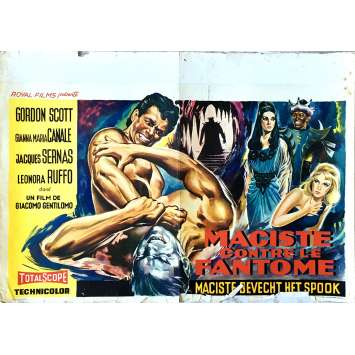 GOLIATH AND THE VAMPIRES Movie Poster 14x21 in. - 1961 - Sergio Corbucci, Gordon Scott