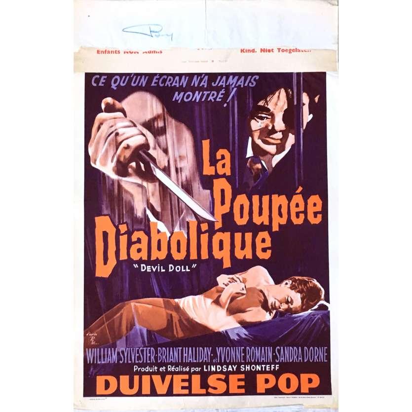 DEVIL DOLL Movie Poster 14x21 in. - 1963 - Lindsey Shonteff, William Sylvester