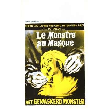 LE MONSTRE AU MASQUE Affiche de film 35x55 cm - 1960 - Alberto Lupo, Anton Giulio Majano