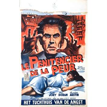 LE PENITENCIER DE LA PEUR Affiche de film 35x55 cm - 1957 - Victor Jory, Lazlo Kardos