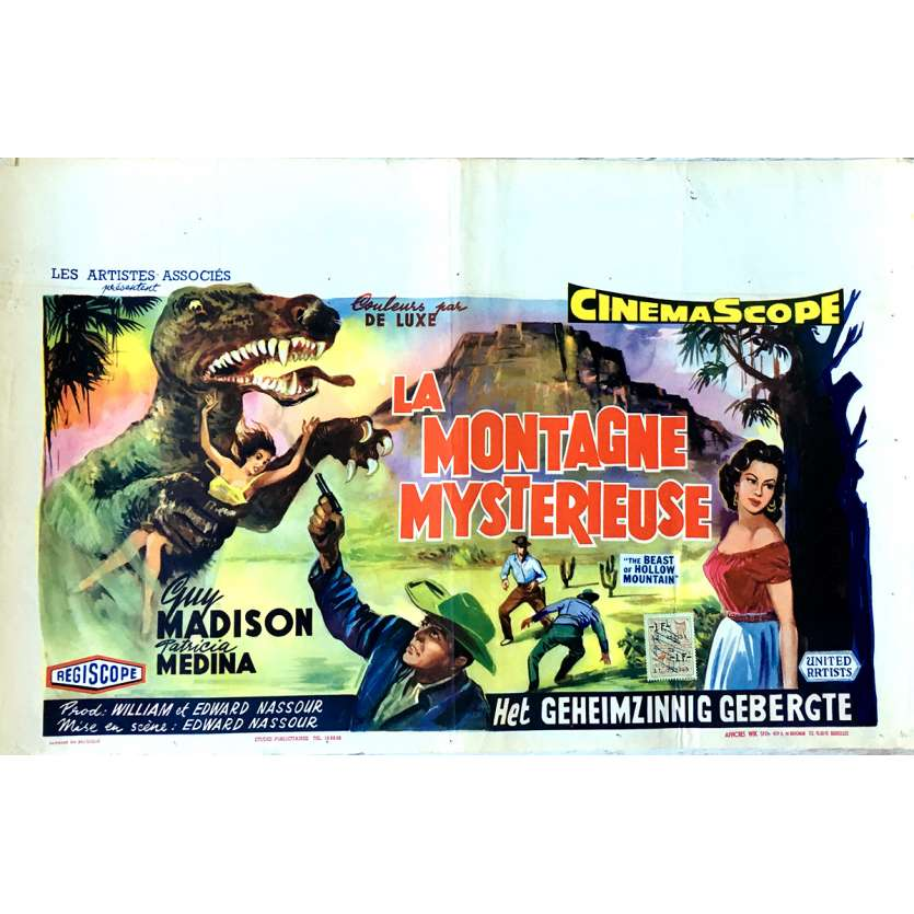 LA MONTAGNE MYSTERIEUSE Affiche de film 35x55 cm - 1956 - Guy Madison, Edward Nassour