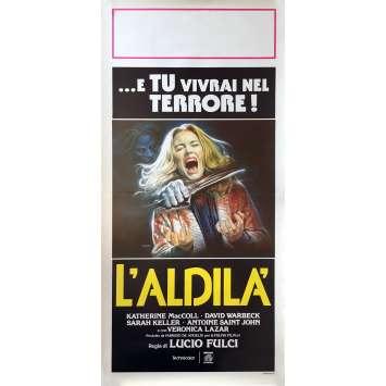 THE BEYOND Movie Poster 13x28 in. - 1981 - Lucio Fulci, Catriona MacColl