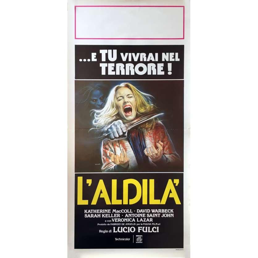 L'AU DELA Affiche de film 33x71 cm - 1981 - Catriona MacColl, Lucio Fulci