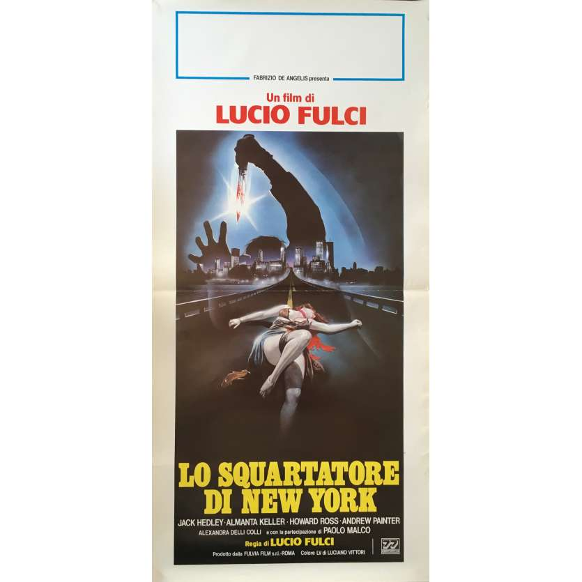 NEW-YORK RIPPER Movie Poster 13x28 in. - 1982 - Lucio Fulci, Jack Hedley