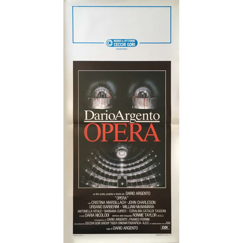OPERA Movie Poster 13x28 in. - 1987 - Dario Argento, Cristina Marsilach