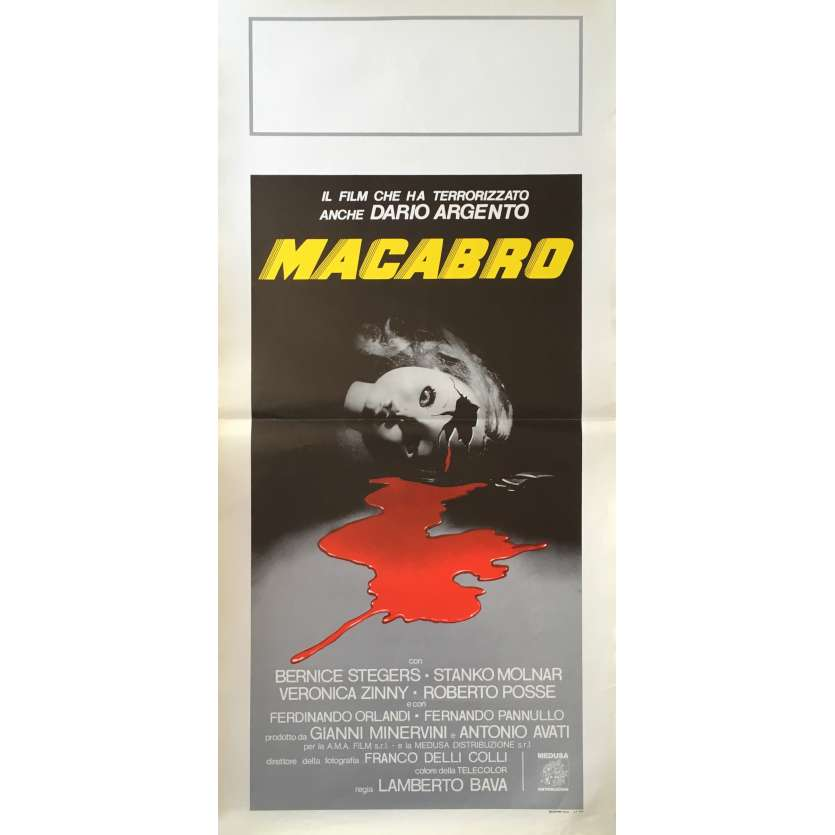 MACABRE Movie Poster 13x28 in. - 1980 - Lamberto Bava, Bernice Stegers