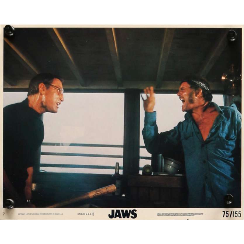DENTS DE LA MER Photo exploitation N7 20x25 US '75 Spielberg, Jaws Lobby Card