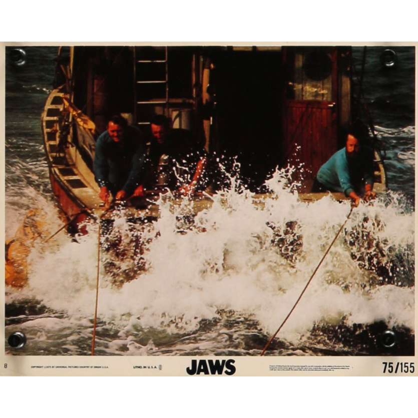 DENTS DE LA MER Photo exploitation 20x25 N8 US '75Spielberg, Jaws Lobby Card