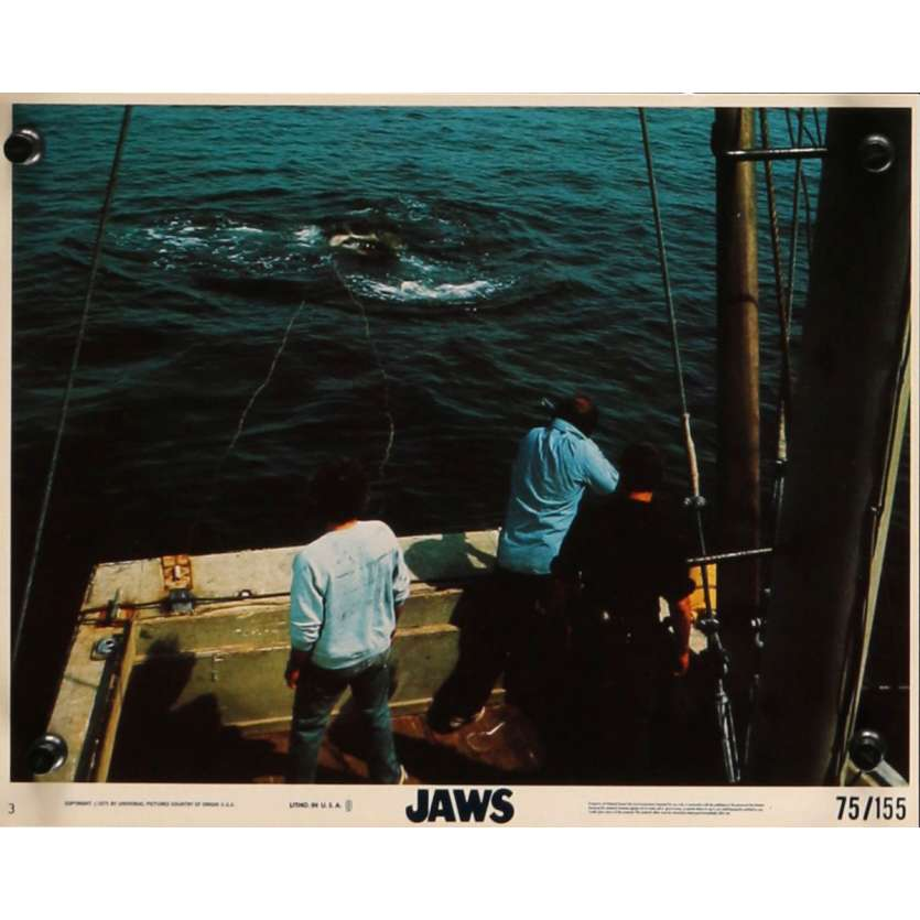 DENTS DE LA MER Photo exploitation 20x25 N9 US '75 Spielberg, Jaws Lobby Card