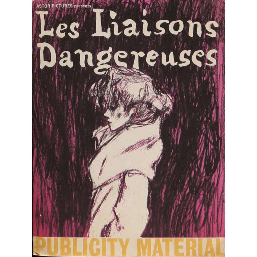 LES LIAISONS DANGEREUSES Dossier de presse 21x30 cm - 1961 - Gérard Philippe, Jeanne Moreau, Roger Vadim