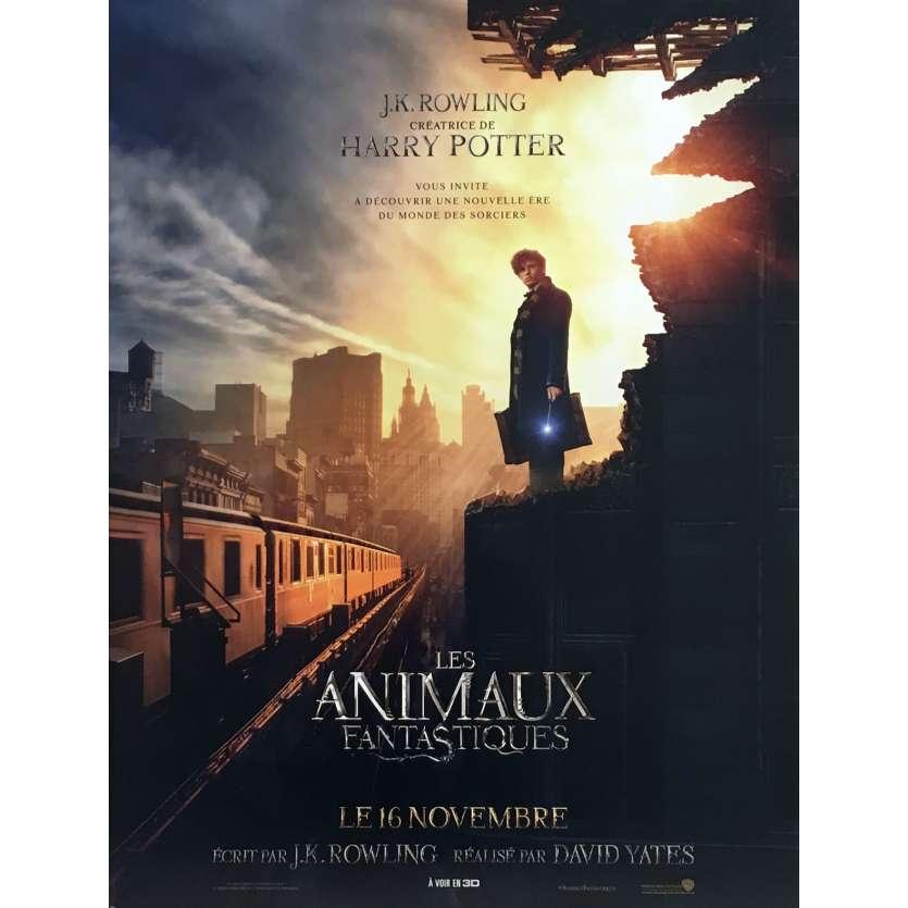 LES ANIMAUX FANTASTIQUES Affiche de film 40x60 cm - 2016 - J. K. Rowling, Eddie Redmayne