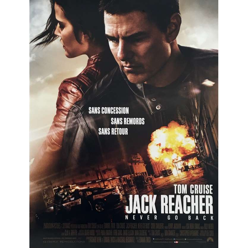 JACK REACHER 2 Affiche de film 40x60 cm - 2016 - Edward Zwick, Tom Cruise
